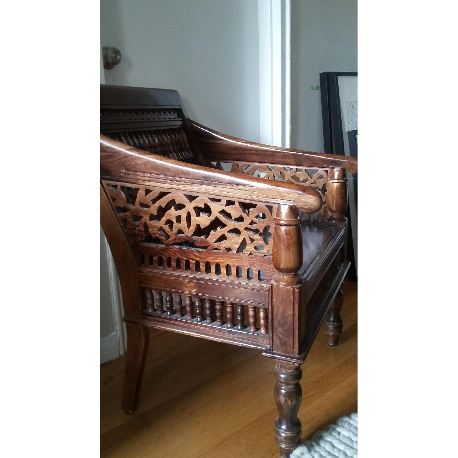 Home Decorator's Collection Hand Carved Rajasthan Wooden Chair - image-3
