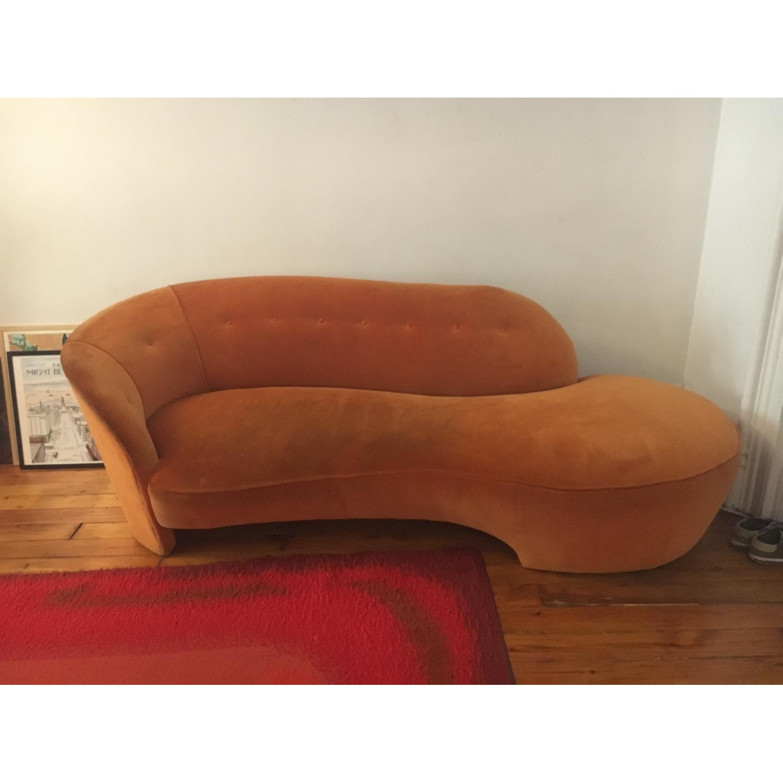 Vintage Reupholstered Velvet Chaise - image-1