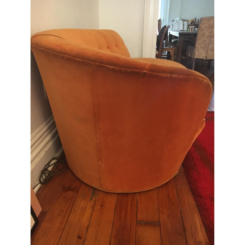 Vintage Reupholstered Velvet Chaise - image-2