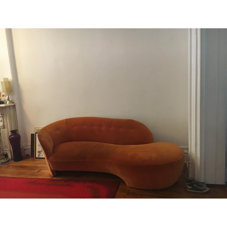 Vintage Reupholstered Velvet Chaise - image-5