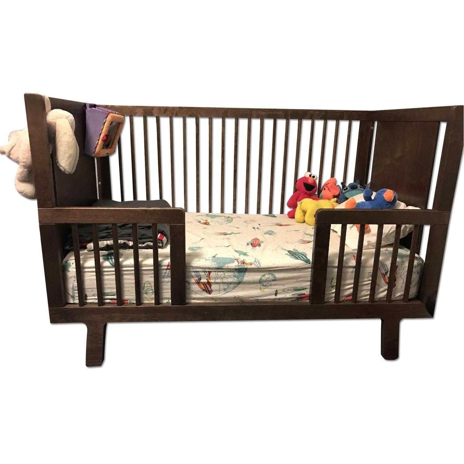 Ouef Sparrow Crib & Toddler Conversion Kit in Walnut - image-0