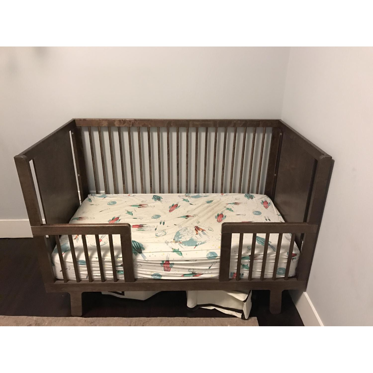 Ouef Sparrow Crib & Toddler Conversion Kit in Walnut - image-4