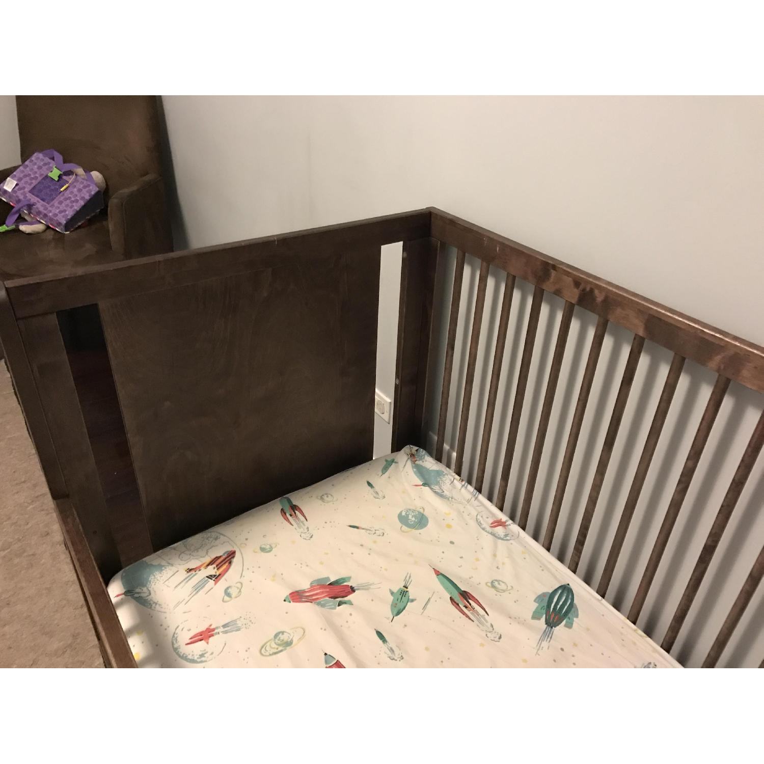 Ouef Sparrow Crib & Toddler Conversion Kit in Walnut - image-5
