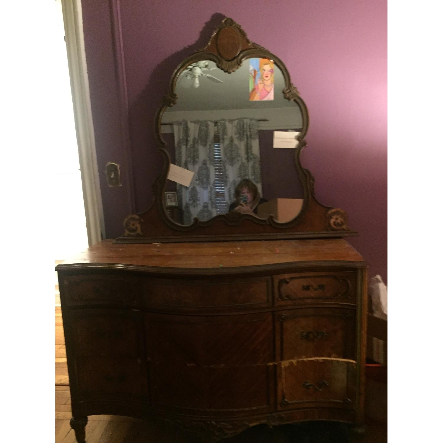 Antique Dressers w/ Mirror - image-3