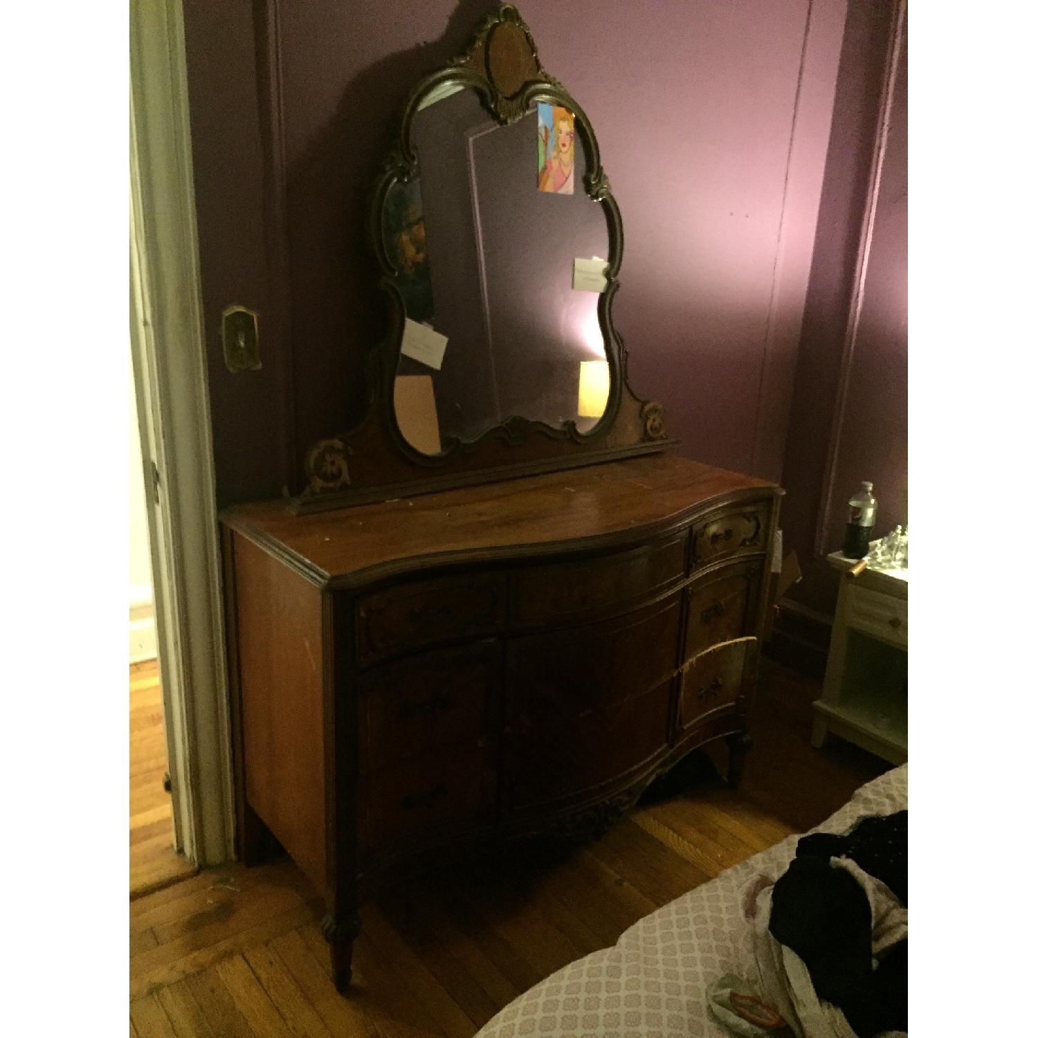Antique Dressers w/ Mirror - image-8