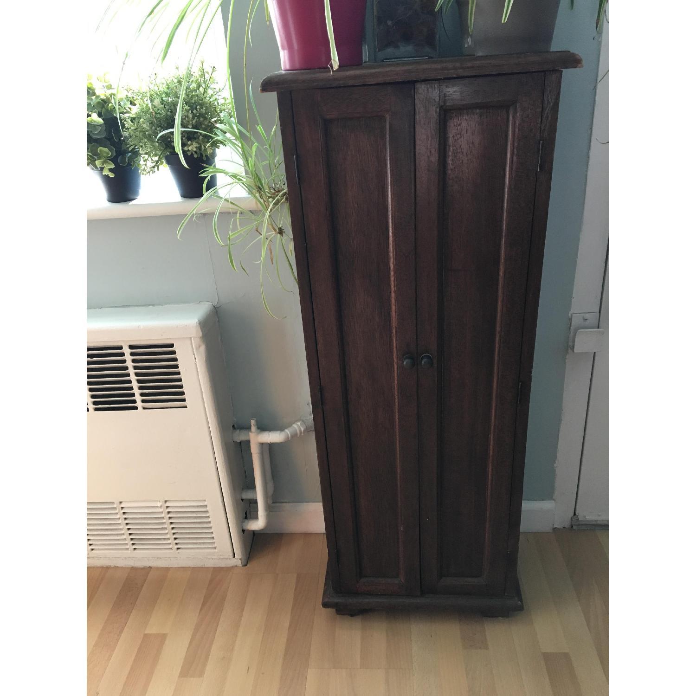 Vintage Wood Cabinet - image-1