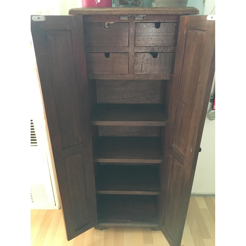 Vintage Wood Cabinet - image-2