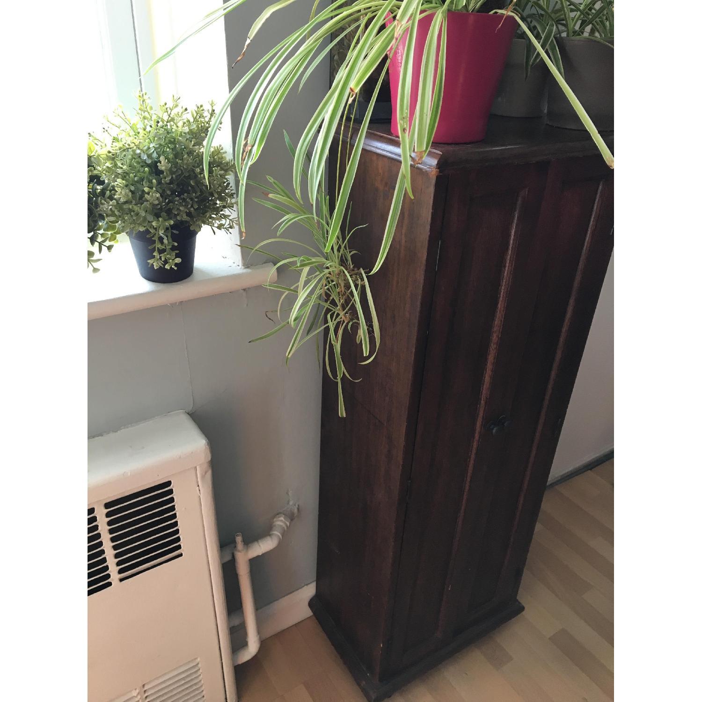 Vintage Wood Cabinet - image-4