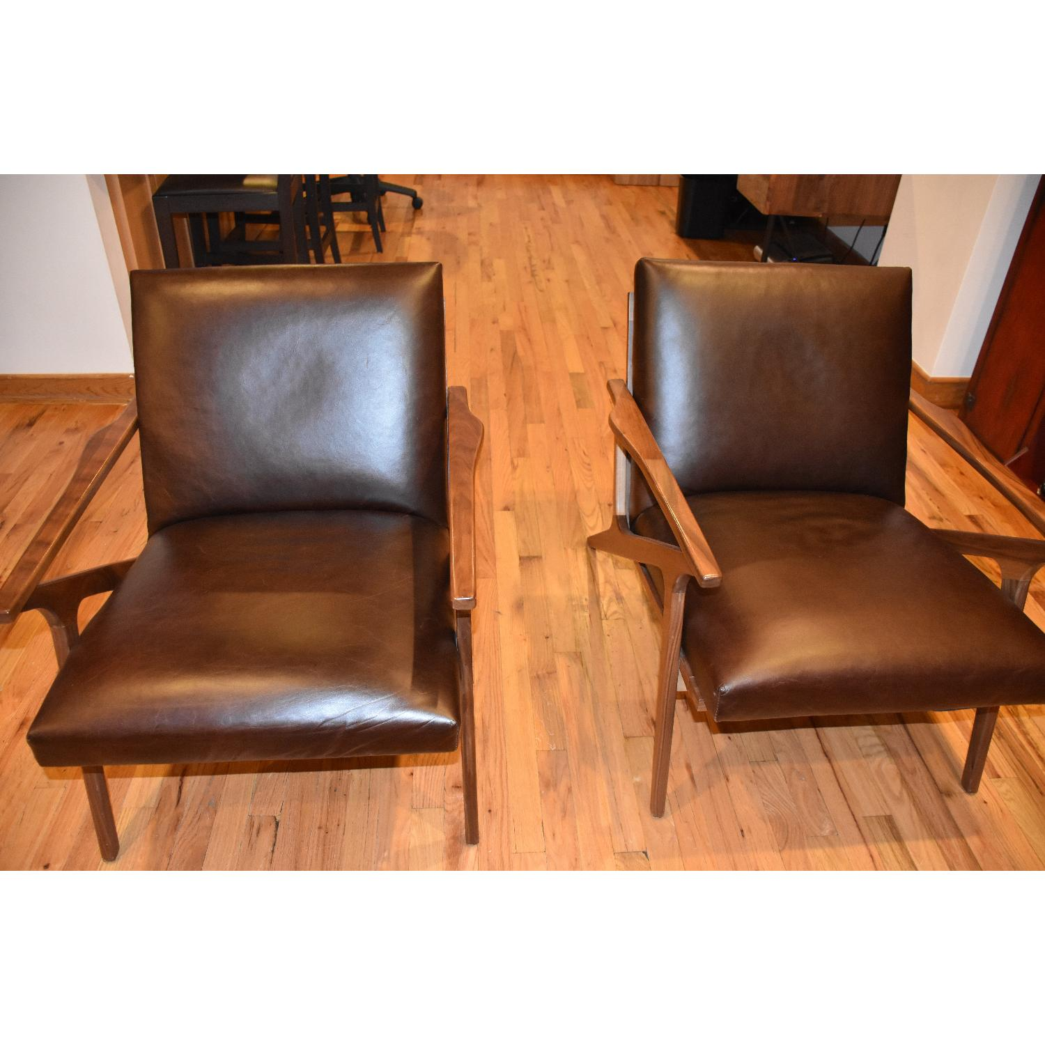 Crate & Barrel Cavett Leather Chair - image-1
