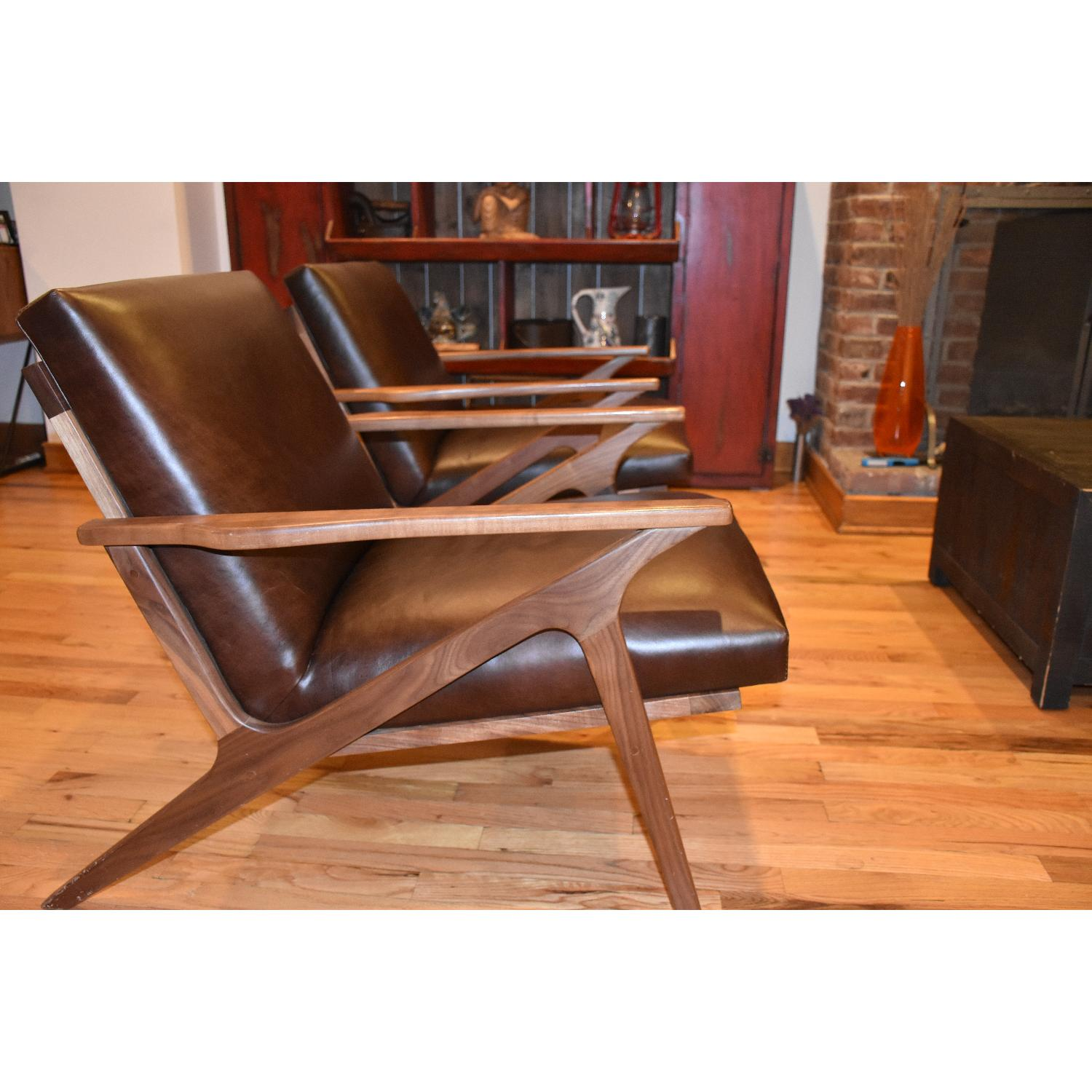 Crate & Barrel Cavett Leather Chair - image-2