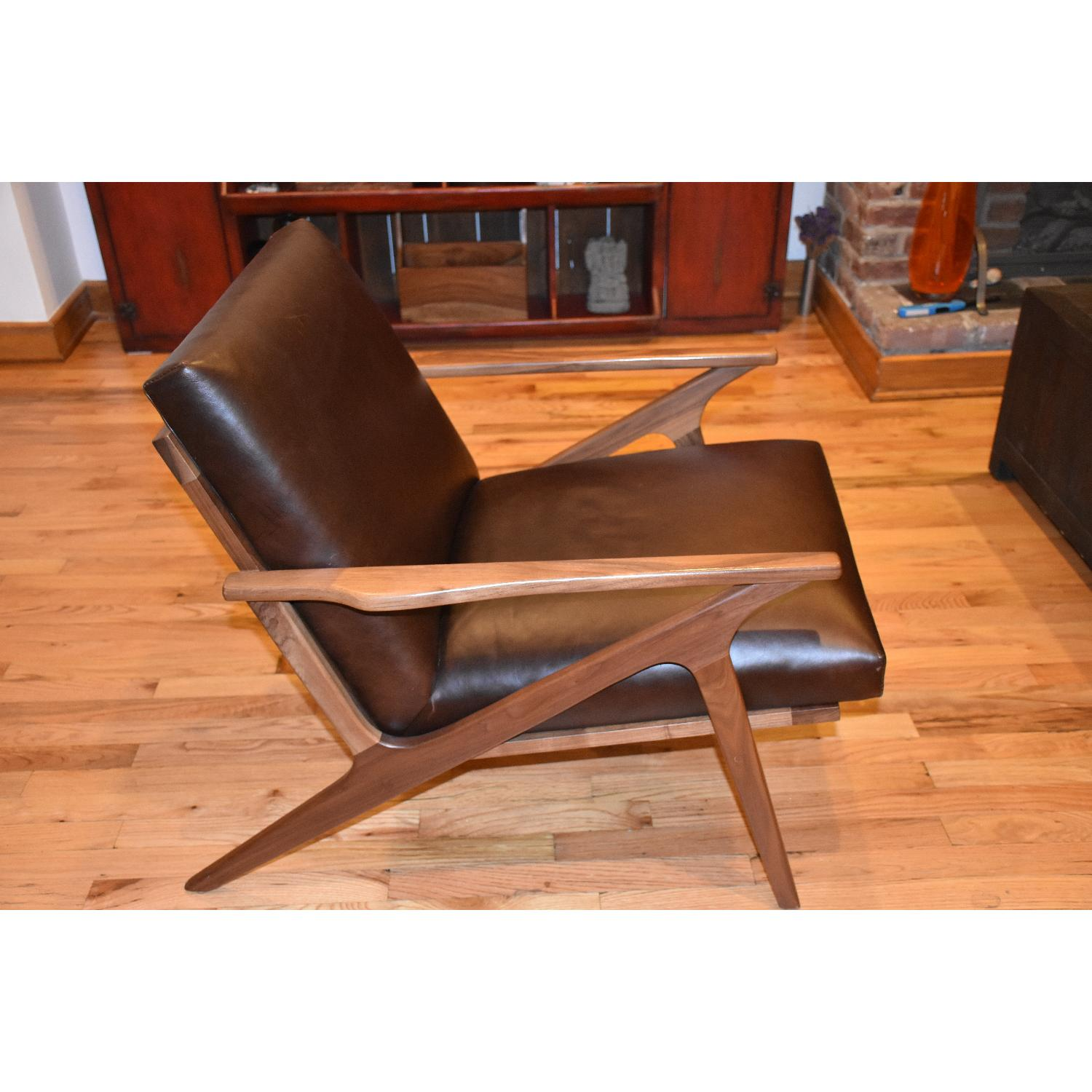 Crate & Barrel Cavett Leather Chair - image-5