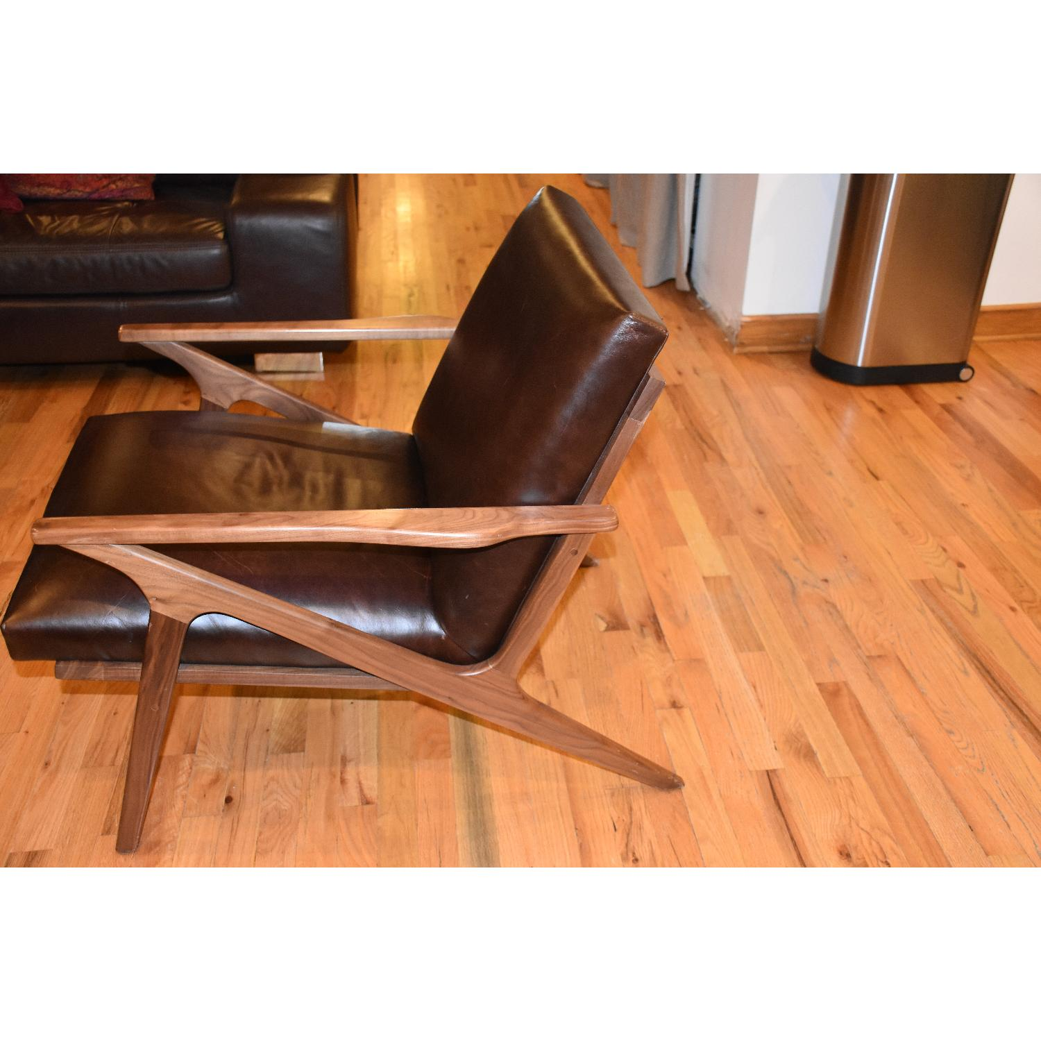 Crate & Barrel Cavett Leather Chair - image-6