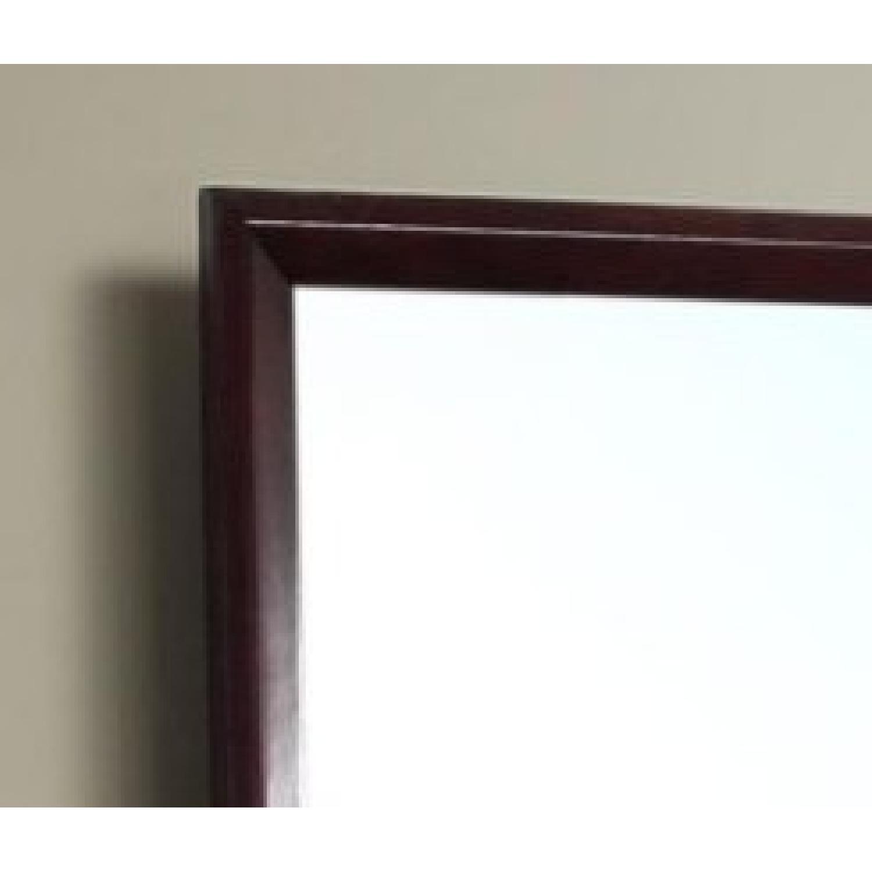 Rectangular Mirror in Merlot Finish Wood Frame - image-3