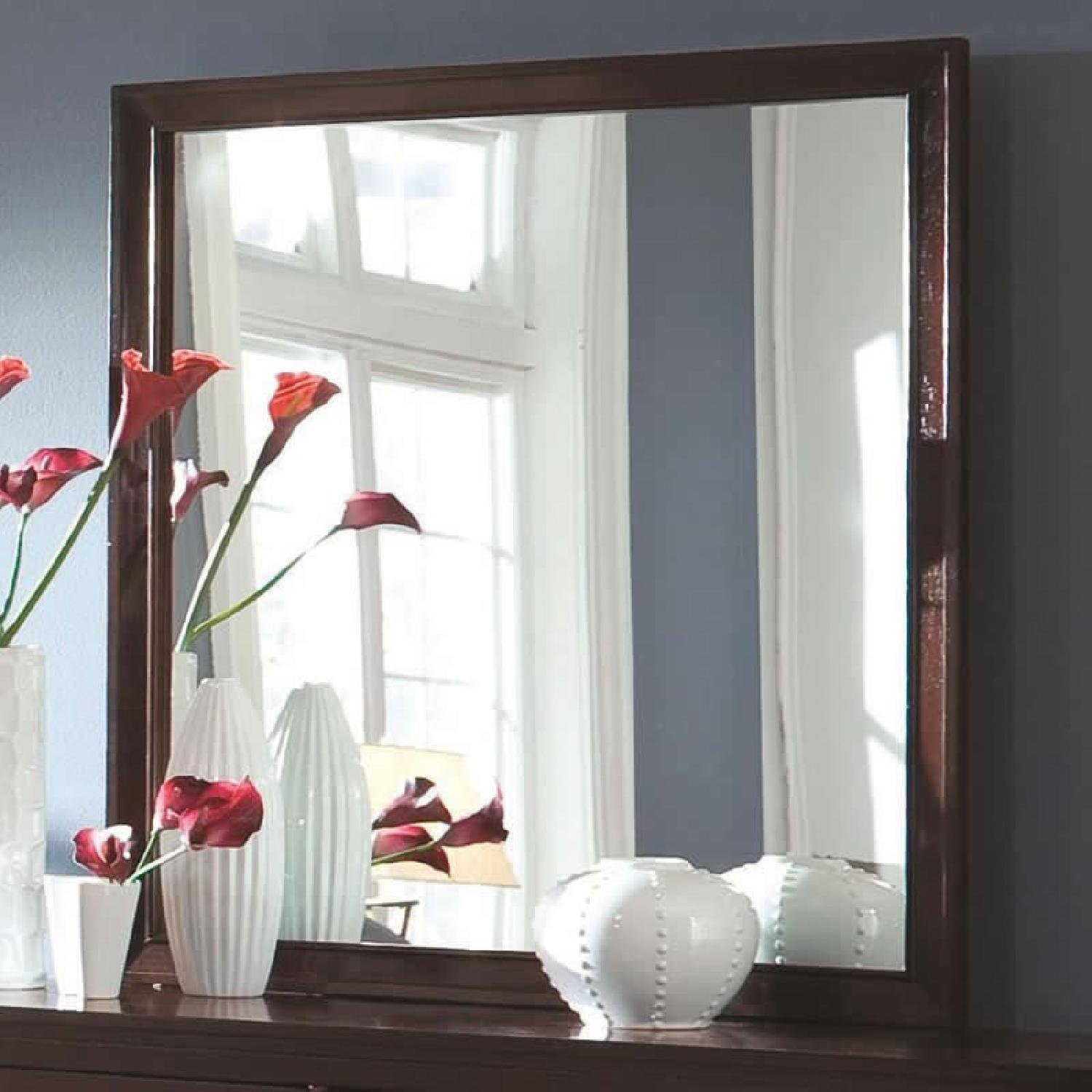 Mirror in Brown Wood Frame - image-1