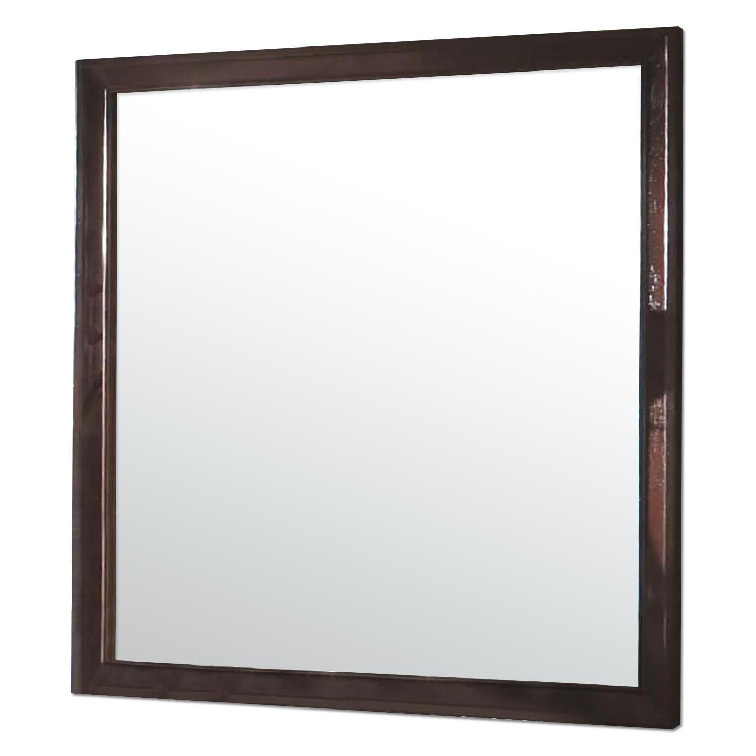 Mirror in Brown Wood Frame - image-0