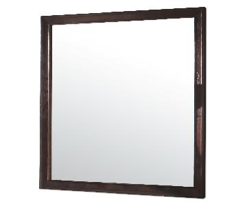 Mirror in Brown Wood Frame