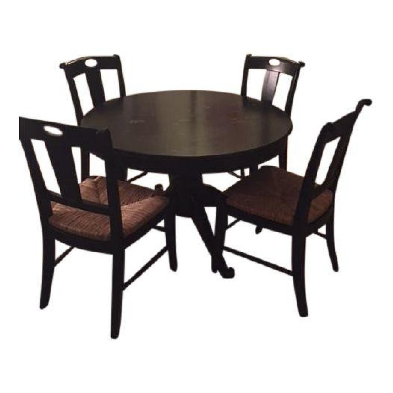 Crate & Barrel Extendable Wood 5-Piece Dining Set - image-0
