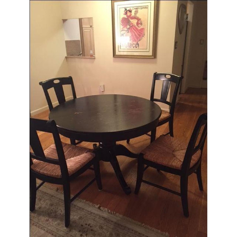 Crate & Barrel Extendable Wood 5-Piece Dining Set - image-3