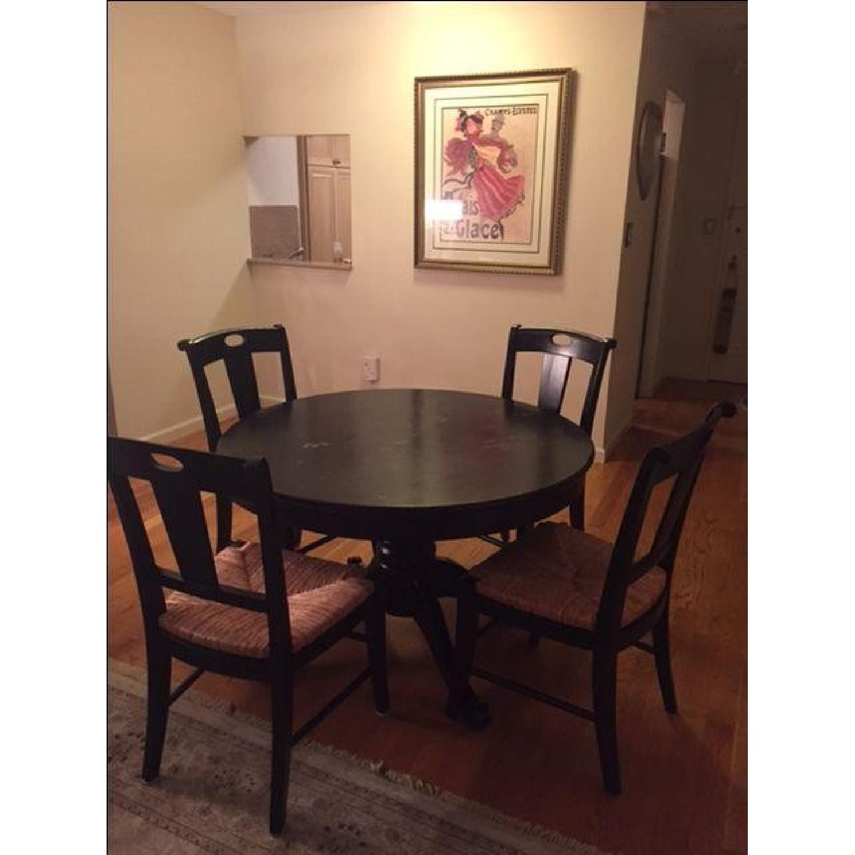 Crate & Barrel Extendable Wood 5-Piece Dining Set - image-5