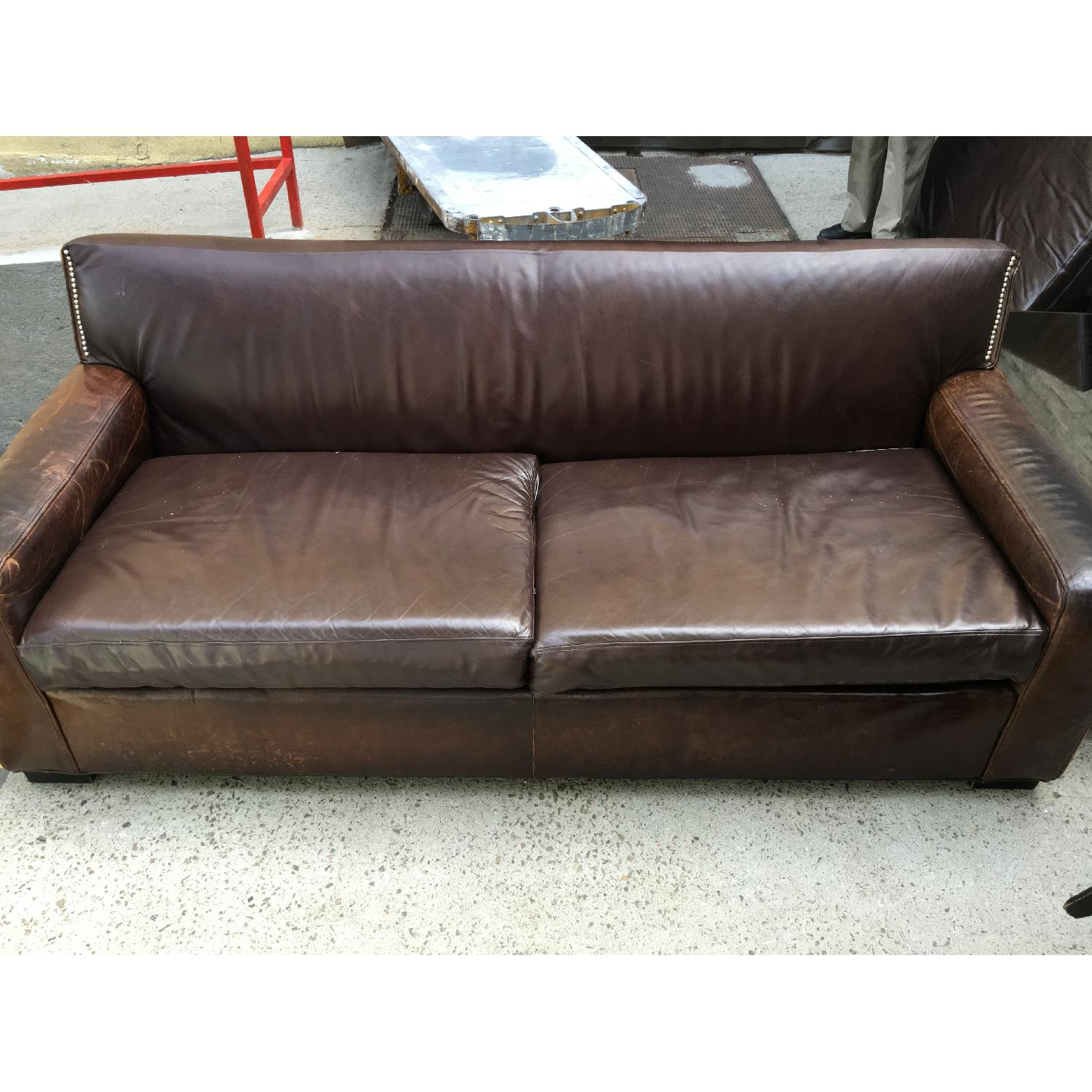 Mitchell Gold + Bob Williams Leather Couch - image-1