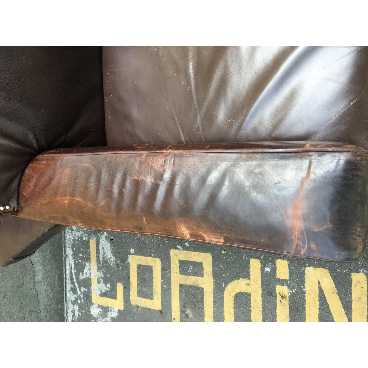 Mitchell Gold + Bob Williams Leather Couch - image-4