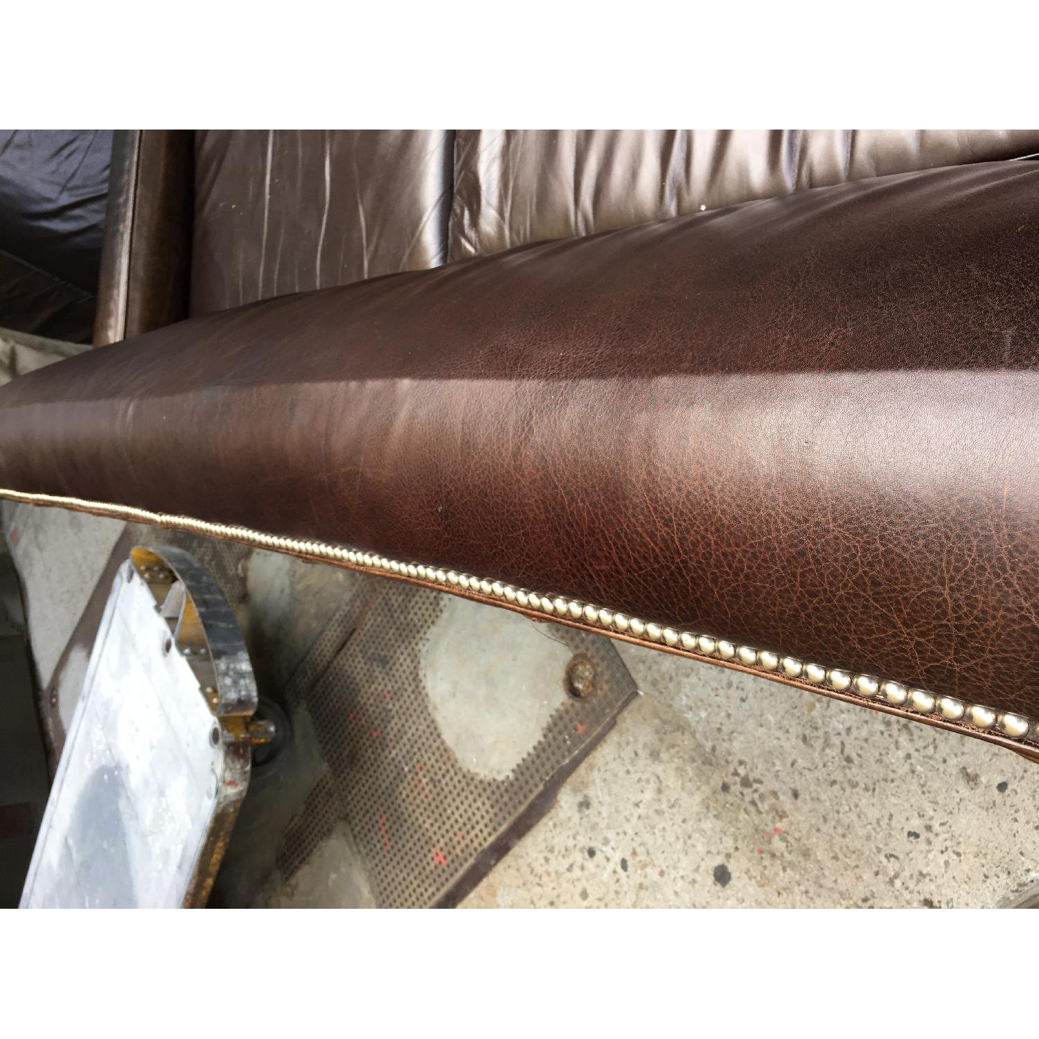 Mitchell Gold + Bob Williams Leather Couch - image-7