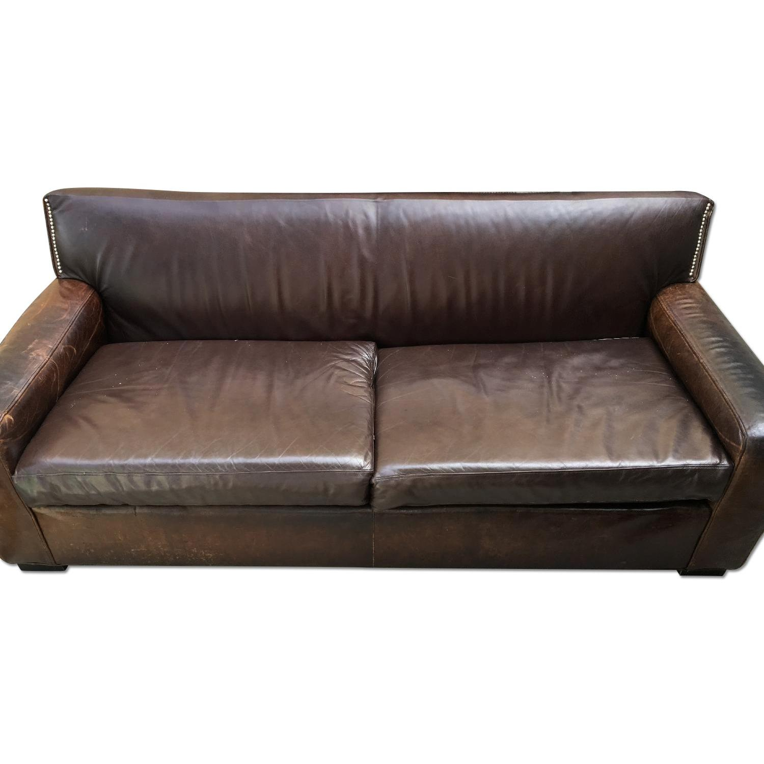Mitchell Gold + Bob Williams Leather Couch - image-0