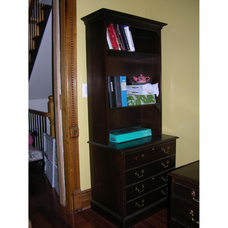 Ethan Allen Solid Mahogany Bookcase - image-1
