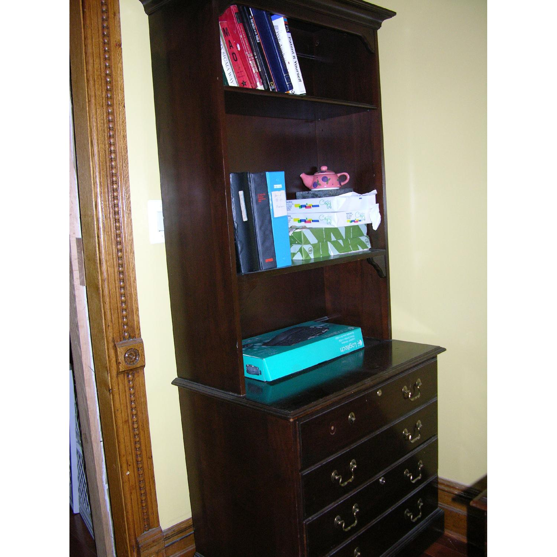 Ethan Allen Solid Mahogany Bookcase - image-2