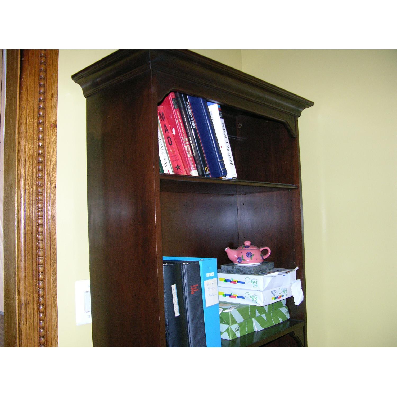 Ethan Allen Solid Mahogany Bookcase - image-3