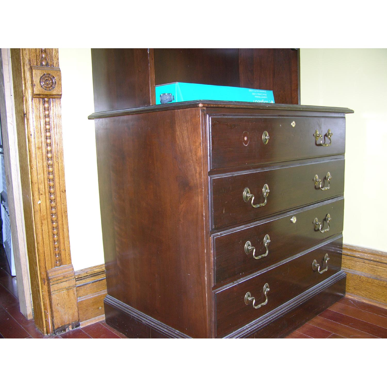 Ethan Allen Solid Mahogany Bookcase - image-4