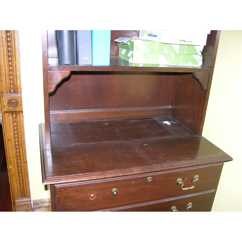 Ethan Allen Solid Mahogany Bookcase - image-5