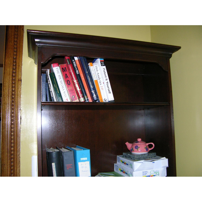 Ethan Allen Solid Mahogany Bookcase - image-6