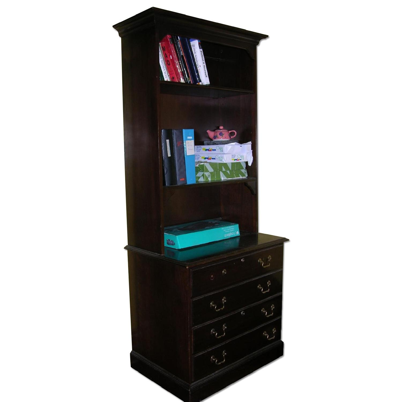 Ethan Allen Solid Mahogany Bookcase - image-0