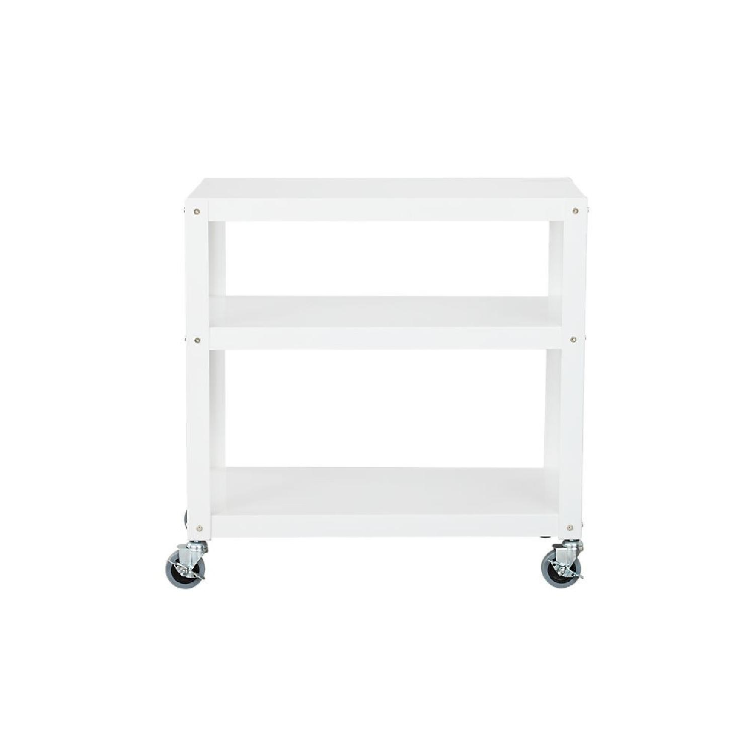CB2 Go-Cart Rolling Cart in White