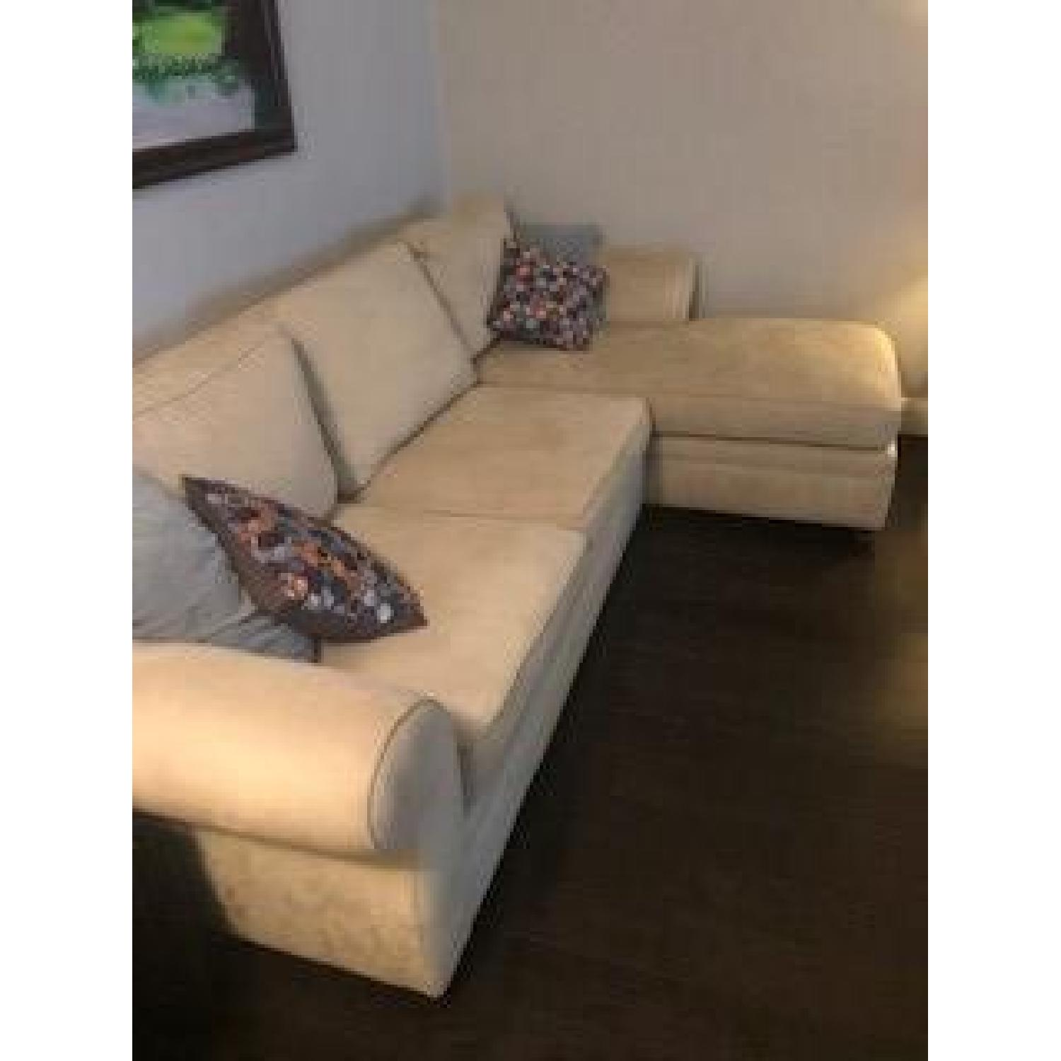 Pottery Barn Pearce Upholstered Chaise Sectional Sofa