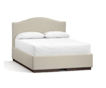 Pottery Barn Upholstered Storage King Bed