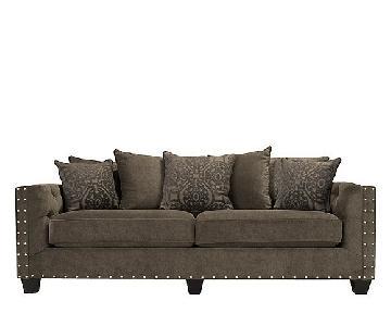Raymour & Flanigan Cindy Crawford Calista Microfiber Sofa