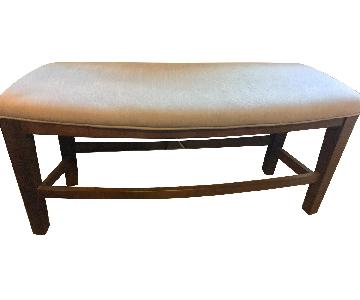Ashley Fabric & Wood Bench