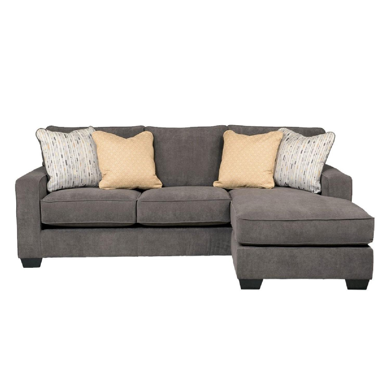 Jennifer Convertibles Dark Grey Sectional Sofa Aptdeco