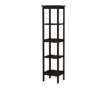 Ikea Hemnes Black/Brown Shelving Unit