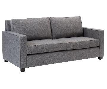 West Elm Henry Sofa in Chenille Tweed Slate