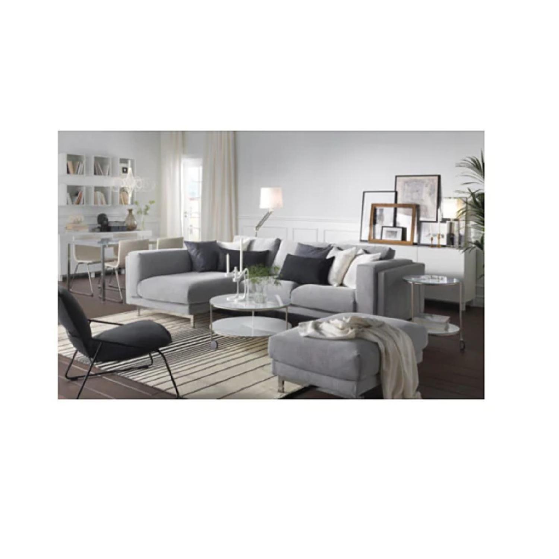 Wondrous Ikea Nockeby Sectional Sofa W Left Chaise Aptdeco Ibusinesslaw Wood Chair Design Ideas Ibusinesslaworg