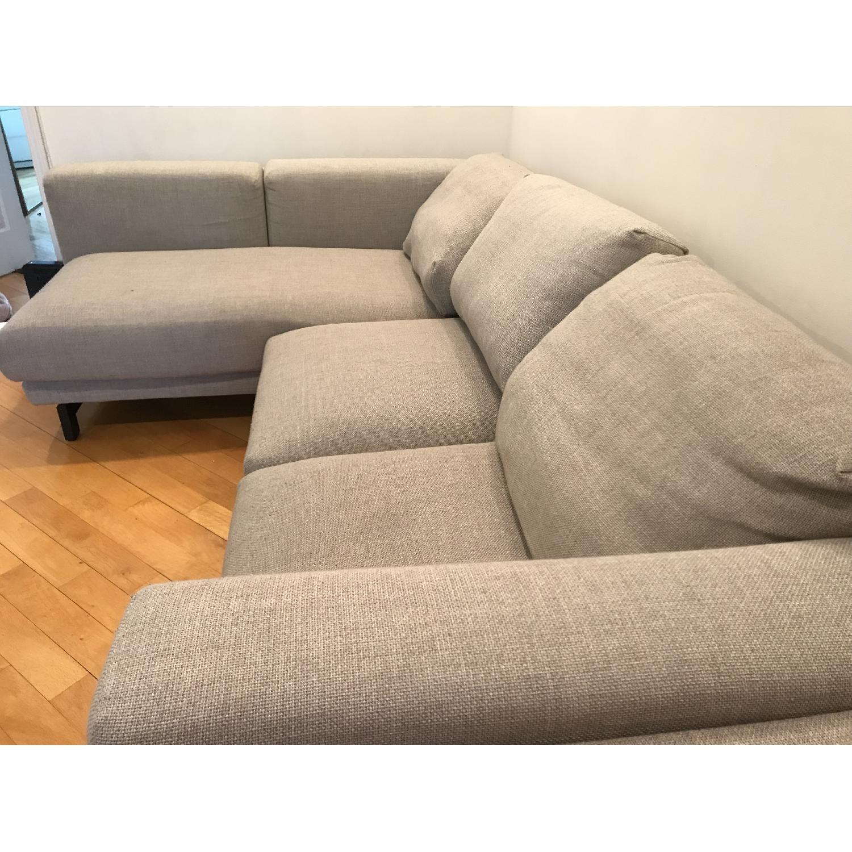 Surprising Ikea Nockeby Sectional Sofa W Left Chaise Aptdeco Ibusinesslaw Wood Chair Design Ideas Ibusinesslaworg