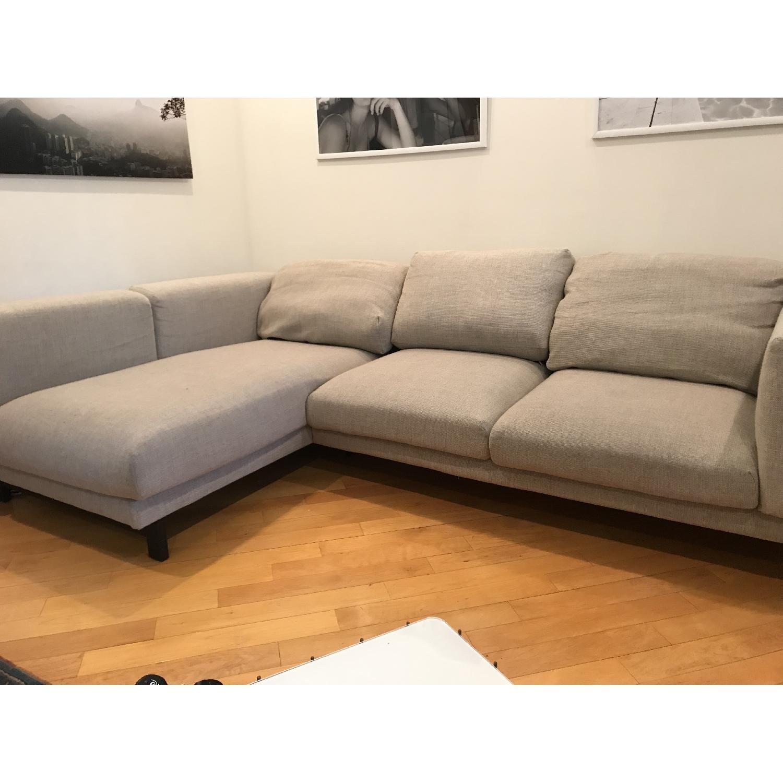 Astonishing Ikea Nockeby Sectional Sofa W Left Chaise Aptdeco Ibusinesslaw Wood Chair Design Ideas Ibusinesslaworg