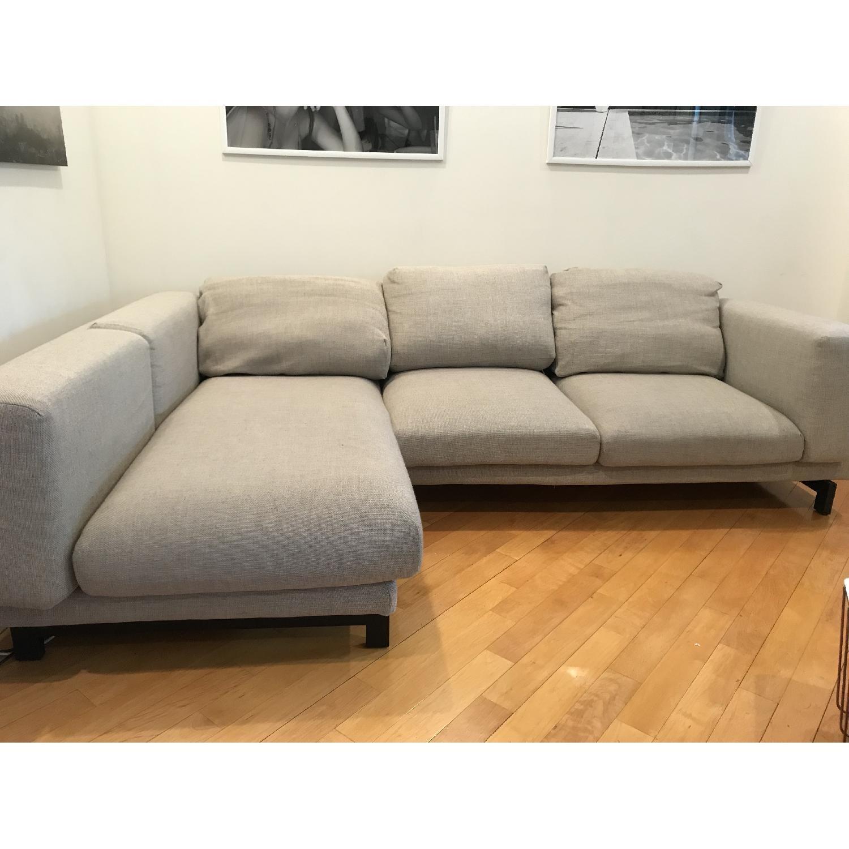 Incredible Ikea Nockeby Sectional Sofa W Left Chaise Aptdeco Ibusinesslaw Wood Chair Design Ideas Ibusinesslaworg