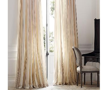 Restoration Hardware Silk Drapes