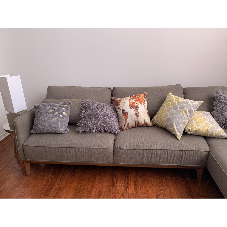 Macy's Jollene 2-Piece Sectional Sofa in Grey - AptDeco