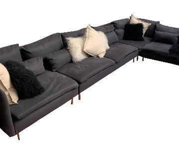 Ikea Grey 4 Piece Sectional Sofa