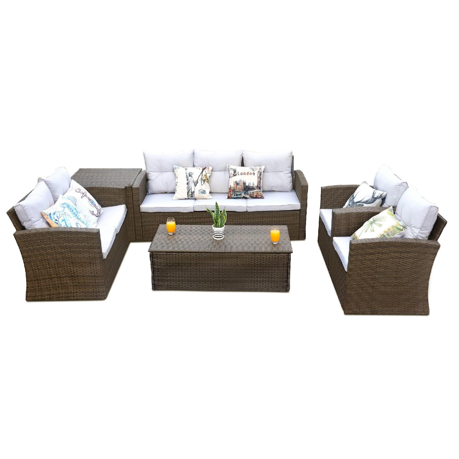 Edmond 6 Piece Outdoor Set w/ Storage